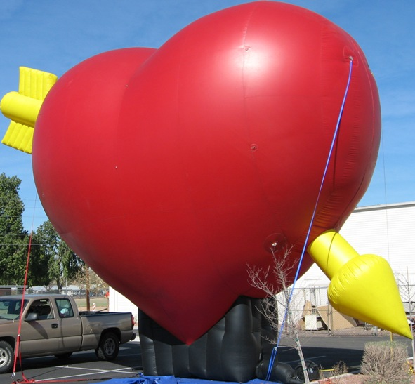 Advertising inflatables - 25 ft. Valentine's Day Heart Balloon