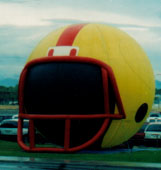 Giant balloon - 25 ft. tall football helmet advertising inflatable