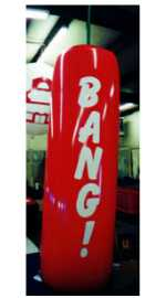 Firecracker helium balloon - Helium advertising inflatables made in the USA.